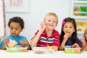 Preschool kids doing activities